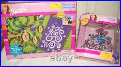 #10744 Toys R Us Pink & Sparkly Holiday Tree, Ornaments, Tree Topper & Skirt