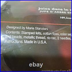 2002 Bucilla JOY TO THE WORLD Felt Holy Christmas Tree Skirt Kit 85776 Nativity