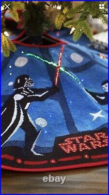 2018 Hallmark Star Wars Christmas Tree Skirt The Force Is Strong Magic Light Mib