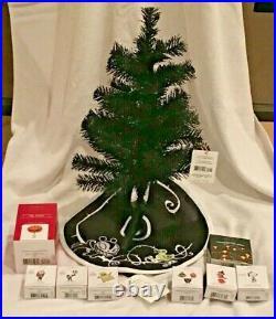 2021 HALLOWEEN CHRISTMAS Hallmark MINI Ornament Set TREE Skirt TOPPER 10pc
