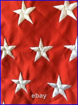 60 US Flag Christmas Tree Skirt Trimsetter by Dillards Embroidered retail$199