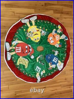 ADORABLE Kurt S Adler M&M Mars Candy Christmas Tree Skirt 45 Diameter RARE