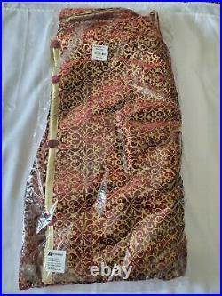Balsam Hill 72 Burgundy Brocade Velvet Tree Skirt