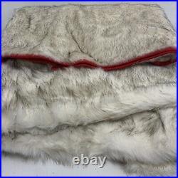 Balsam Hill Arctic Holiday Faux Fur Tree Skirt 72 NEW $199