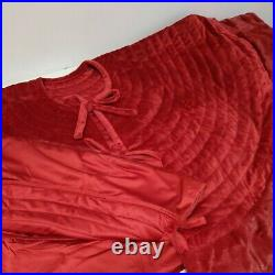 Balsam Hill Cardinal Red Berkshire Quilted Tree Skirt 84 NEWithOpen