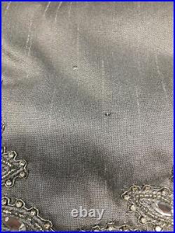 Balsam Hill Crystal Border beaded Tree Skirt 72 Silver NEW (Read Description)