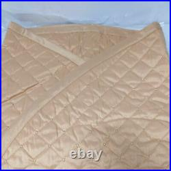 Balsam Hill Gold Regency Dupioni Quilted Tree Skirt, 72 NewithOPEN