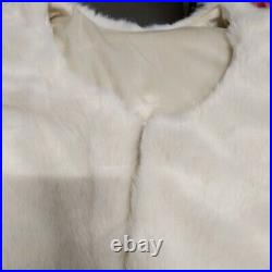 Balsam Hill Ivory Faux Fur Tree Skirt 84 -NewithOPEN