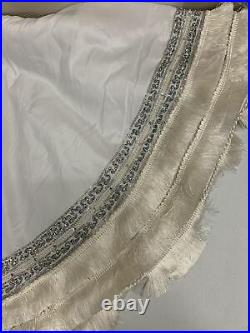 Balsam Hill Plaza White Tree Skirt 72 Fringe Edge NEW $199 Christmas Tree Skirt