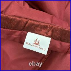 Balsam Hill Wine and Pearl Beaded Christmas Tree Skirt 72 Across Open/NEW $159