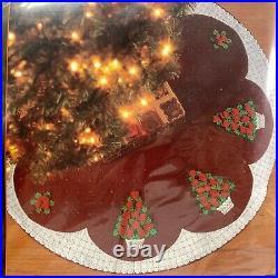 Bucilla 2003 Felt Tree Skirt Kit #84936 Rose Tree 43 Christmas Trees And Roses