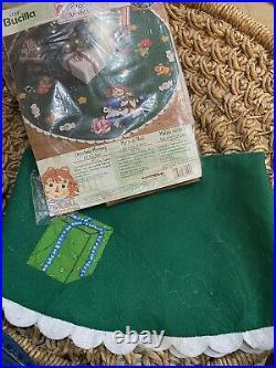 Bucilla 86245 Raggedy Ann CHRISTMAS MORNING Tree Skirt Just Started