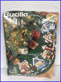 Bucilla Christmas Village Felt Christmas Tree Skirt Kit 1998 NIP 83980 Stanziani