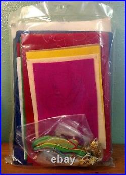Bucilla Christmas felt Applique tree skirt kit # 83419 NATIVITY SCENE 43 round