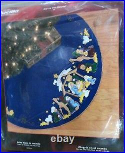 Bucilla Felt Kit 84776 Joy To The World 2002 Tree Skirt Nip Rare 43