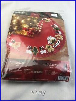 Bucilla Gingerbread House/Man Christmas Tree Skirt Kit New In Package 85133