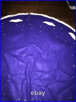 Bucilla JOLLY BEADED SANTA Christmas Felt Tree Skirt HANDMADE COMPLETE #84430