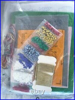 Bucilla Needlepoint Christmas Nativity Felt Tree Skirt Embroidery Kit #82720