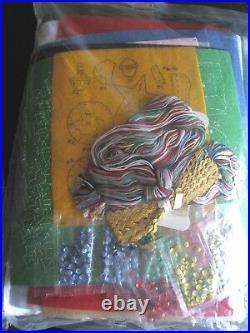 Christmas BUCILLA Felt Applique TREE SKIRT Craft Kit, NATIVITY, 82623, Green Felt