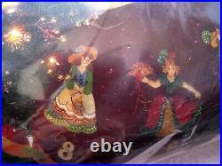Christmas BUCILLA Felt Applique TREE SKIRT KIT, PARTRIDGE IN A PEAR TREE, 86068
