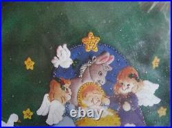 Christmas BUCILLA Holiday Felt Applique TREE SKIRT Kit, BABY JESUS, Nativity, 84600
