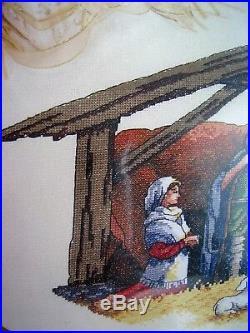 Christmas Dimensions GOLD Counted Cross Tree Skirt KIT, NATIVITY SCENE, 45,8814