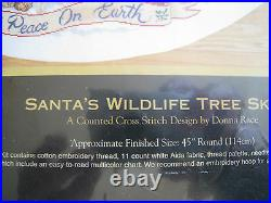 Christmas Dimensions GOLD Counted Tree Skirt KIT, SANTA'S WILDLIFE, Race, 45,8565