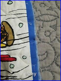 Christmas Tree Skirt Charlie Brown Peanuts SEWN ALREADY Plus 22 Ornaments bo50