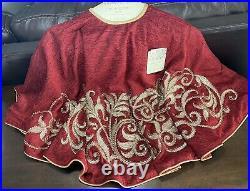 Cynthia Rowley NEW! BEADED 50 CHRISTMAS Tree Skirt Gold 50 LUX GORGEOUS