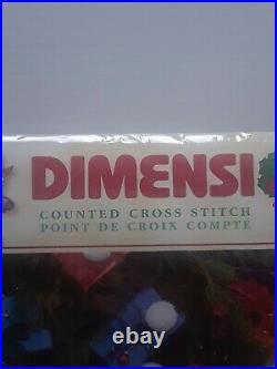 Dimensions Christmas Counted Cross Stitch Tree Skirt Kit Celebrating Snowmen