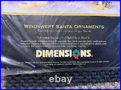 Dimensions Gold Collection Windswept Santa Ornaments Tree Skirt Table Cover Xmas