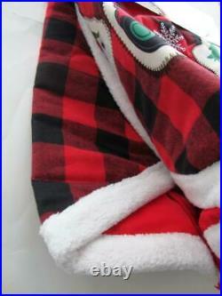 Disney Christmas 2019 Mickey & Minnie Red & Black Plaid Tree Skirt 48 Yuletide