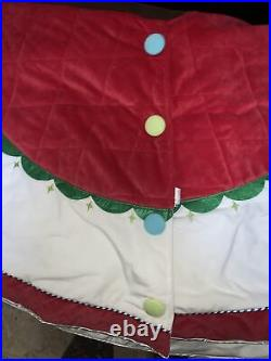 Disney Mickey And Minnie 2014 Christmas Tree Skirt
