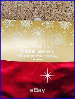 Disney Mickey And Minnie Christmas Tree Skirt with 4 Stockings Park Exc 2016 NWT