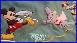 Disney Mickey, Dumbo, Bambi, Pinocchio Christmas Tree Skirt 50 New In Pkg