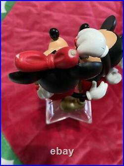 Disney Mickey & Minnie Plush Christmas Tree Skirt With 2 Stockings & Tree Topper