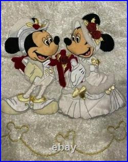 Disney Parks Vintage Mickey Minnie Mouse Victorian Christmas Holiday Tree Skirt