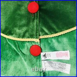 Disney Store Green Red Velour Mickey And Friends Holiday Christmas Tree Skirt