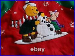 Disney Winnie The Pooh & Friends Christmas Tree Skirt Tigger Eeyore Piglet New