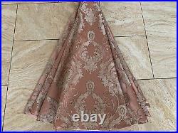 Elegant Luxurious Christmas Tree Skirt Rose Mauve Taupe Large Handmade 53D