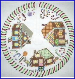 GINGERBREAD HOUSES CHRISTMAS TREE SKIRT by Julias Needleworks