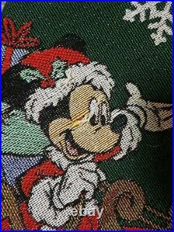 HALLMARK Keepsake DISNEY MICKEY MOUSE Christmas Tree Skirt 2017 Oh, What Fun
