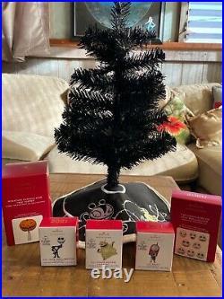 Hallmark Nightmare Before Christmas mini Ornaments, Tree, Skirt & Tree Topper