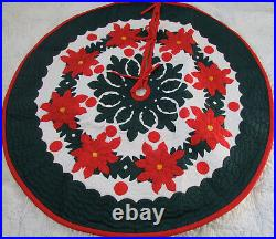 Hawaiian Quilt 100% Hand Quilted/Hand Appliqued Christmas Tree Skirt 60