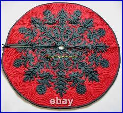 Hawaiian quilt CHRISTMAS TREE SKIRT 100% hand quilted/appliquéd BREADFRUIT