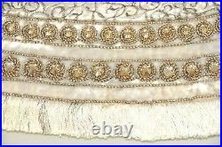 Jay Strongwater Heritage Jeweled Christmas Tree Skirt White Velvet BRAND NEW