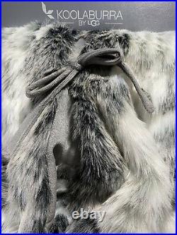 KOOLABURRA BY UGG NEW! 54 FAUX FUR CHRISTMAS Tree Skirt GRAY Grey 54 LUX