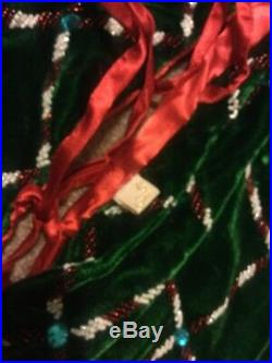 Katherine's Collection Wayne Kleski 72 Tree Skirt Christmas NOS Red & Green