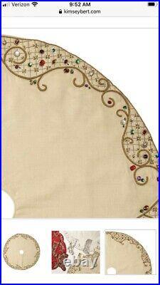 Kim Seybert Royal Gem Christmas Tree Skirt $679