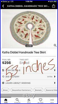 LIMITED EDITION Katha Diddel Wool Needlepoint Holiday Penguin Tree Skirt 6 FEET